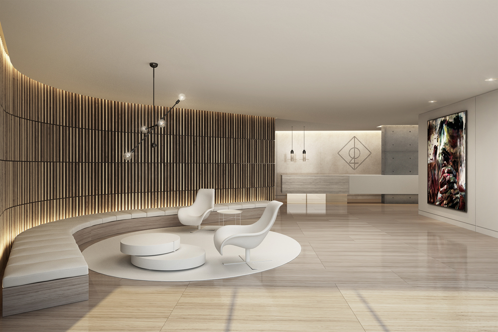 Lobby area at The Alef Residences