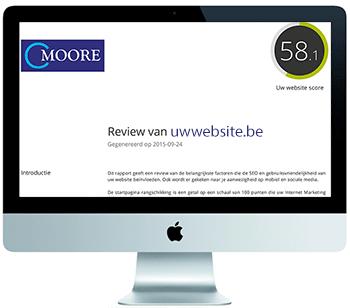 Een digitale scan van uw website voor slechts 250 euro. We checken op een 50-tal punten en vergelijken met concurrenten.