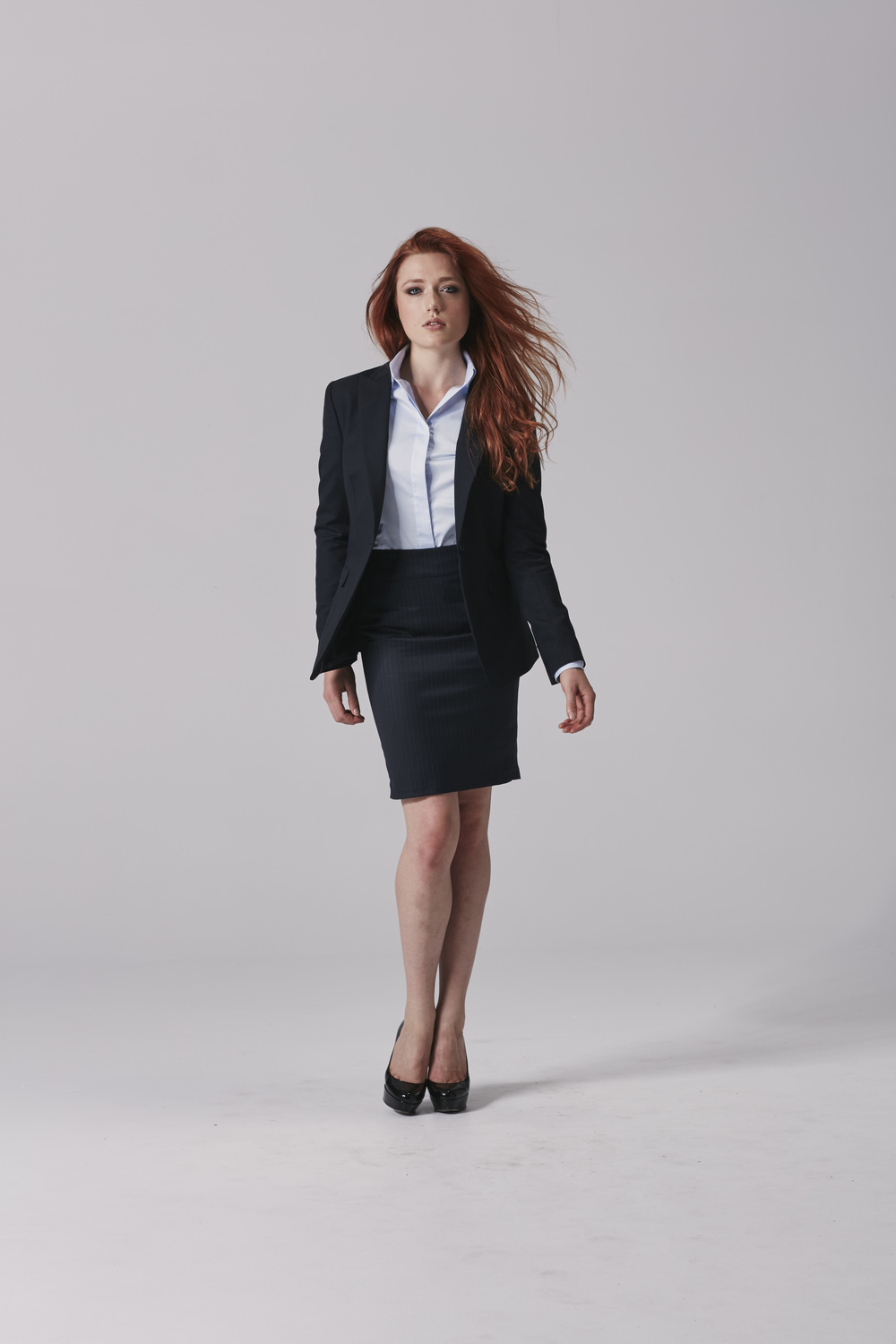 Ladies navy skirt suit Ladies business skirt.jpg