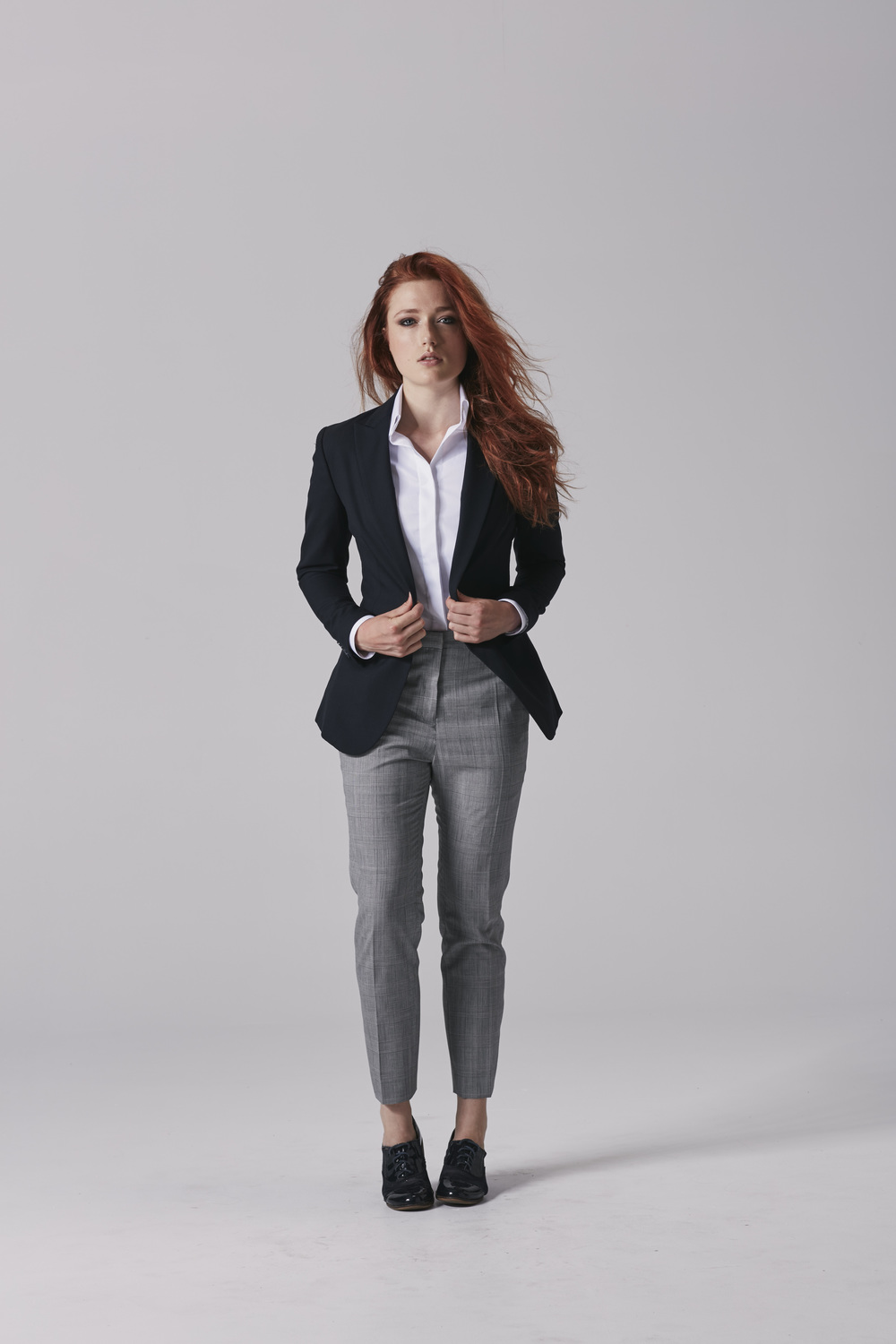 Ladies navy suit jacket Ladies navy blazer.jpg
