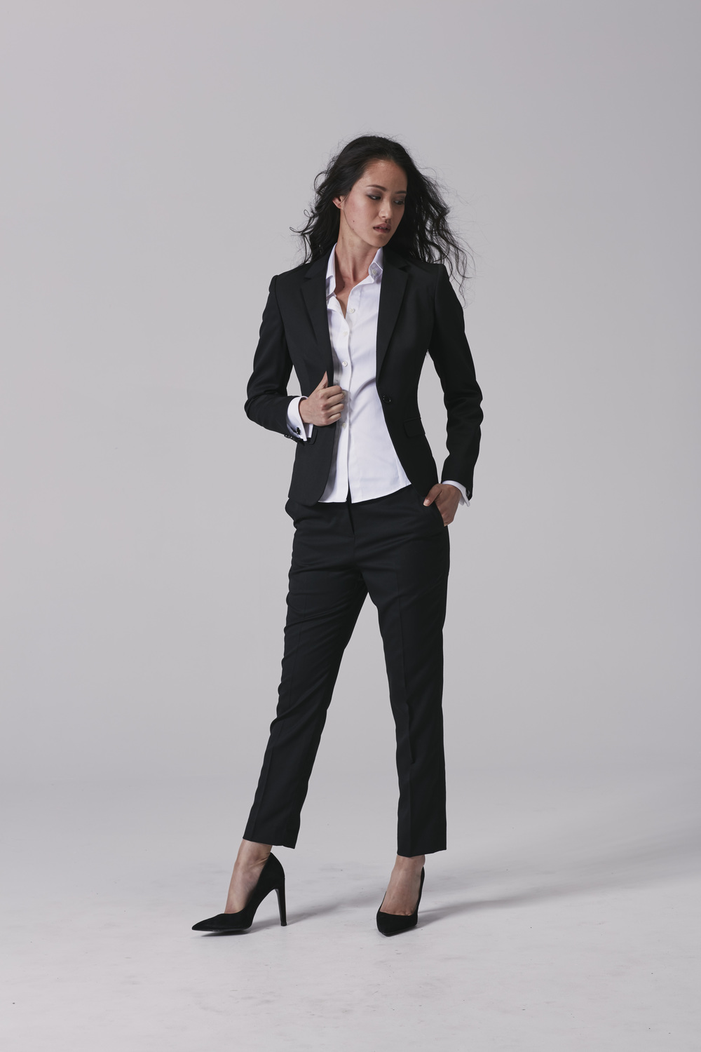 Womens business shirt Womens business pants Womens business jacket.jpg