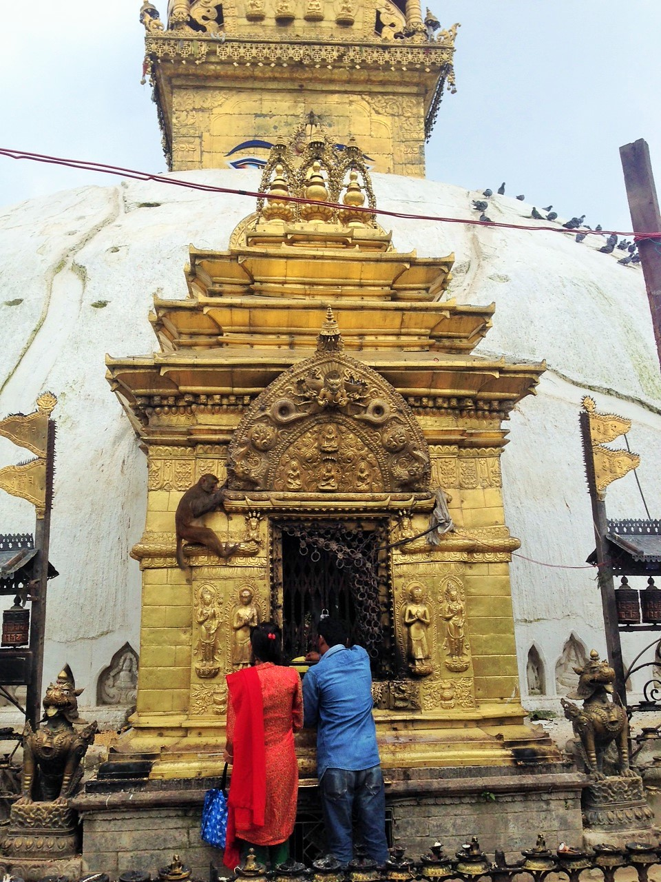 The Monkey Temple at Swayambhunath