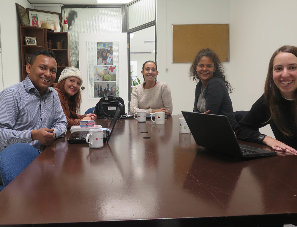 Our first meeting with the National Coordinator Gerardo Navarro in Bógota.