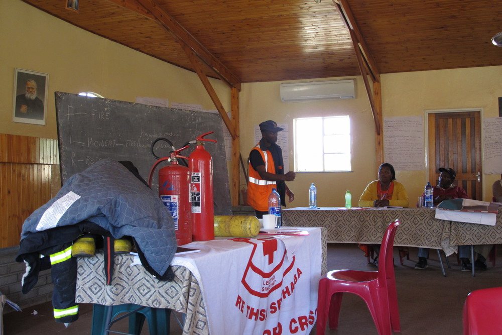 Disaster preparedness workshop: security in case of fire