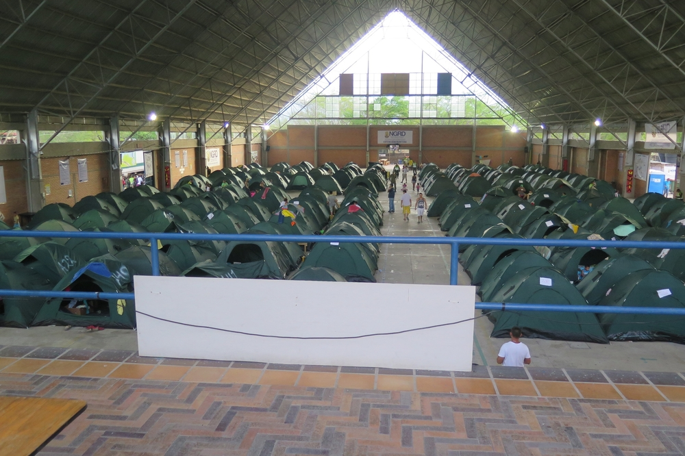 The last temporary shelter in Cúcuta.