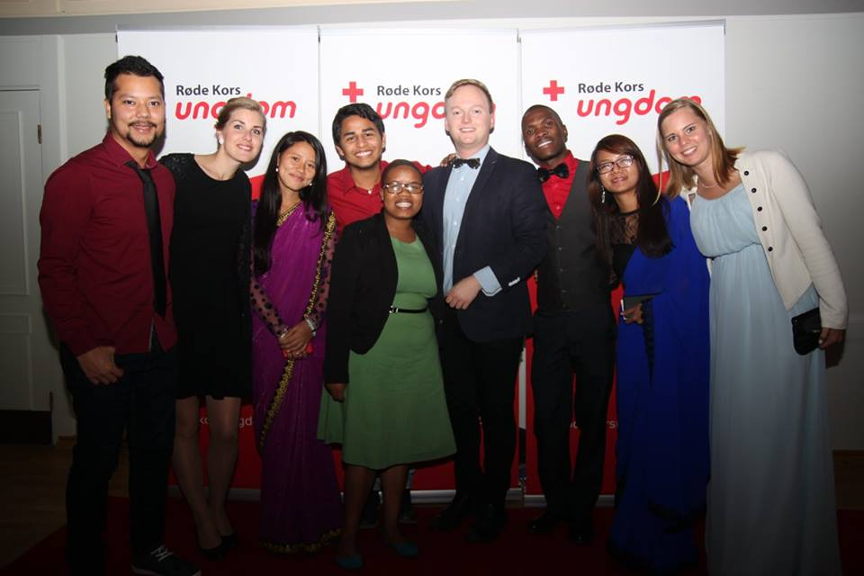 Gala Dinner with our friends from the Youth Delegate Exchange Programme and the Red Cross Youth President
