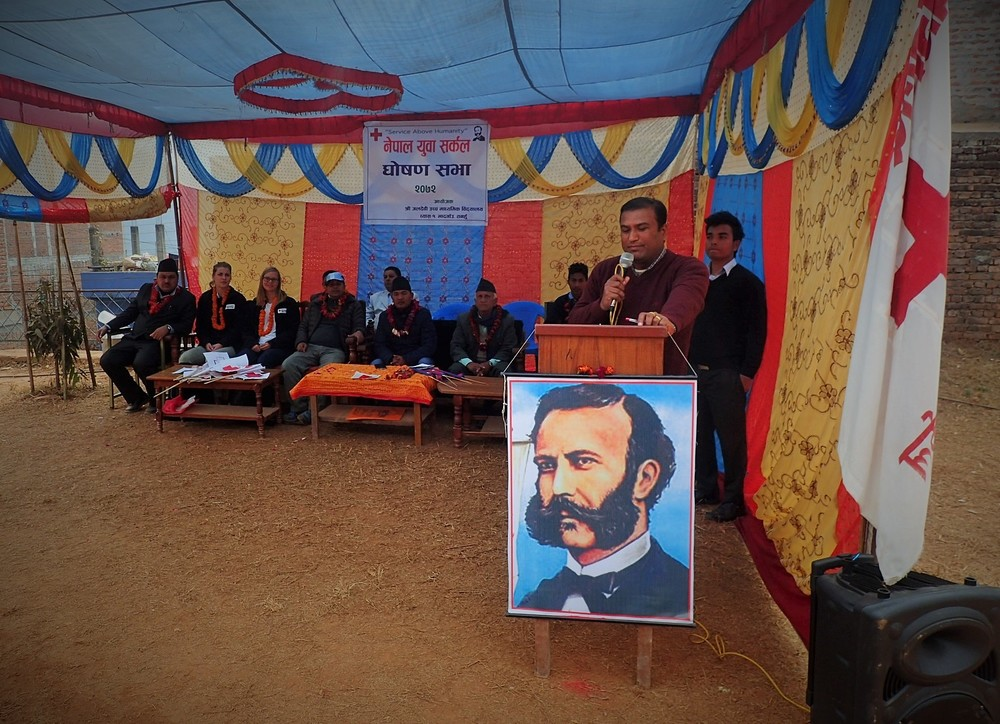 The opening ceremony at Jal Devi Higher Secondary School