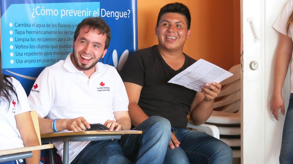 Andrés Sarmiento, Representante de Gobierno de Juventud presente en el taller