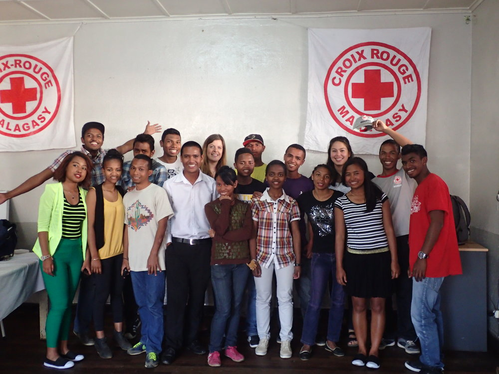 We were lucky to participate in the english club of Analamanga Red Cross with their youth volunteers.