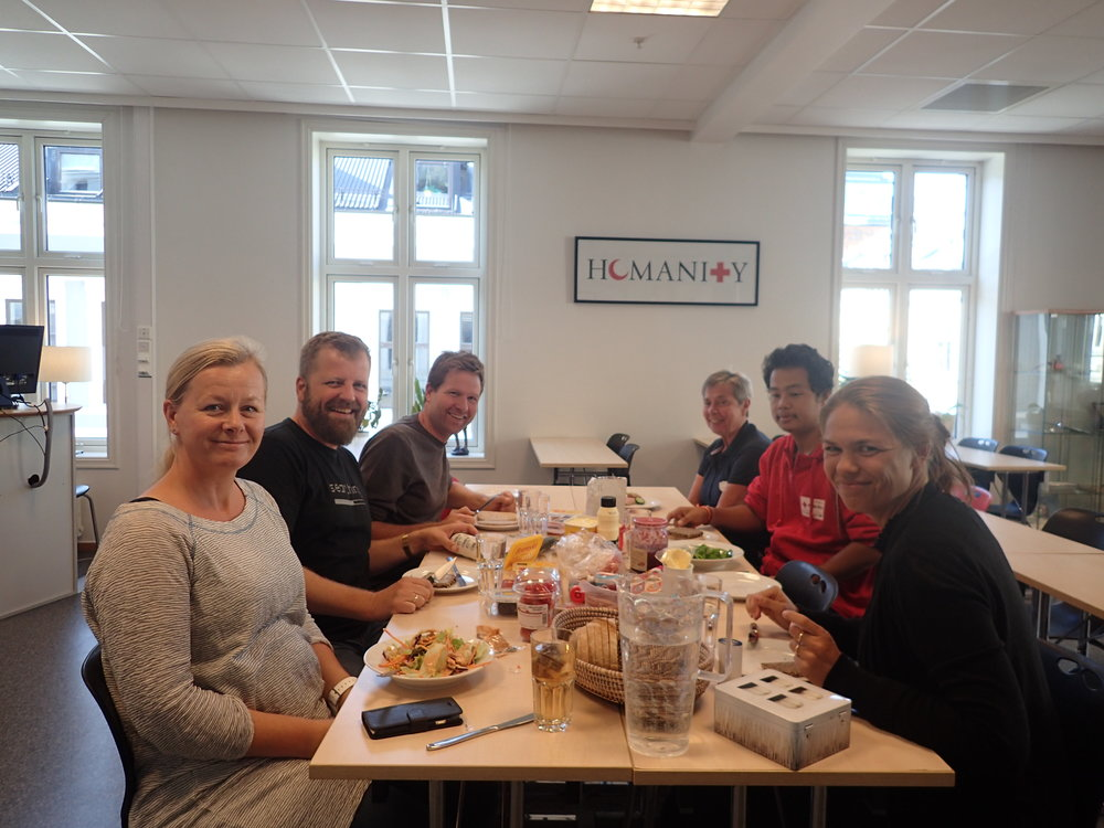 First Lunch in the office with our colleagues