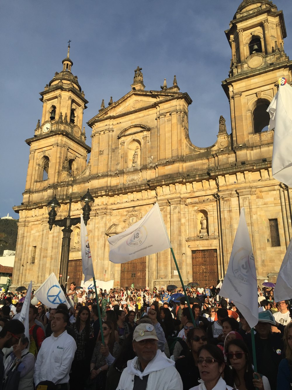 Peace after 52 years of armed conflict between the Colombian government and FARC.