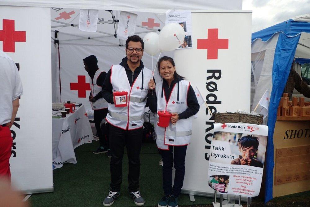 Fería de la Cruz Roja de Telemark (Skien), para recoger fondos, en septiembre 2015. // Fundraising event by Telemark (Skien) Red Cross, in September 2015.