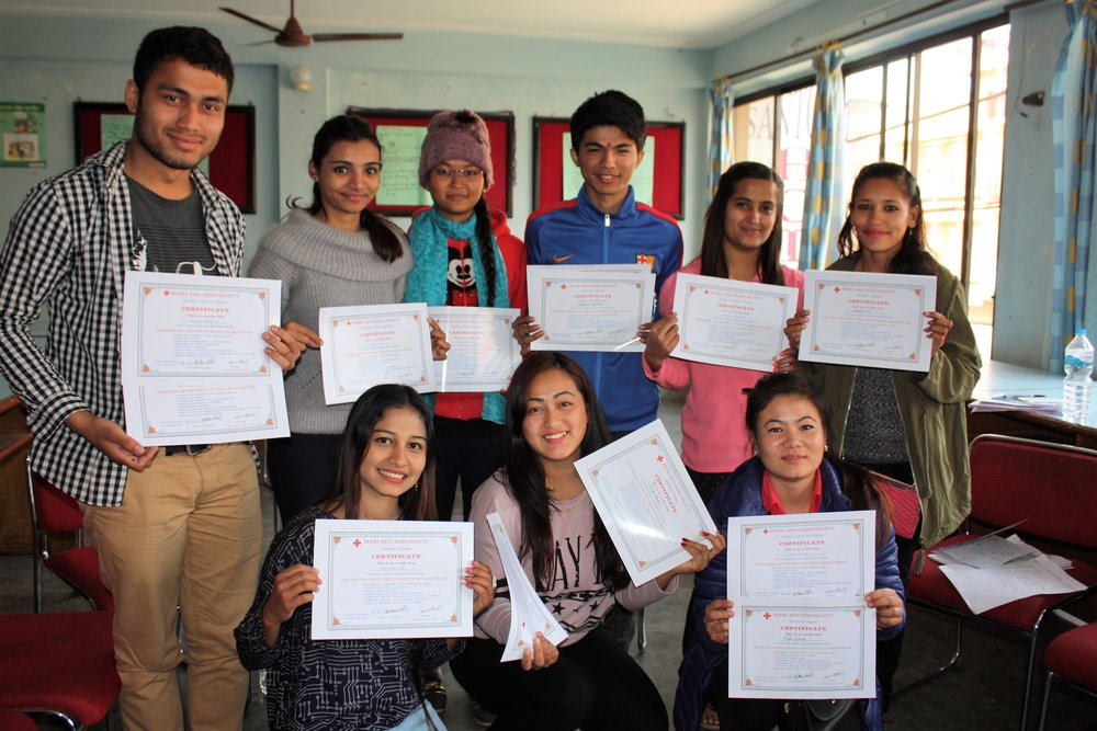 This Youth Volunteers from Tanahun District, Nepal, has become Facilitators at District Level, and they all have chosen value-based facilitation.