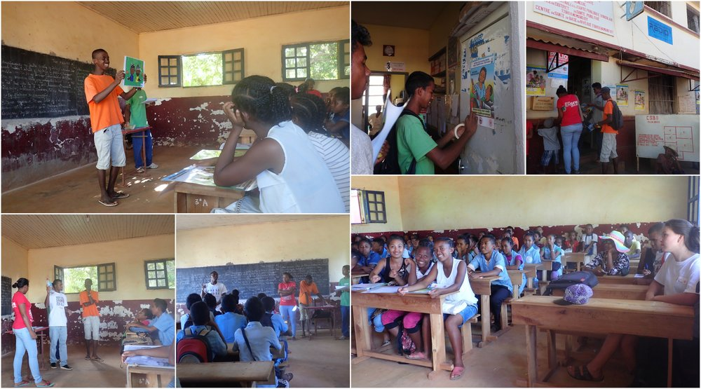 The youth volunteers spread information about the World Water Day in the community and conducted a sensitization at a local school