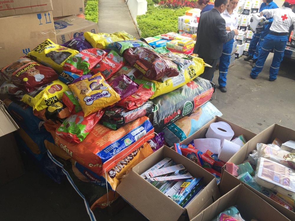 Las mascotas también necesitan comida, y los donantes no los han olvidado// Pets also need food, and the donors haven't forgotten about them.