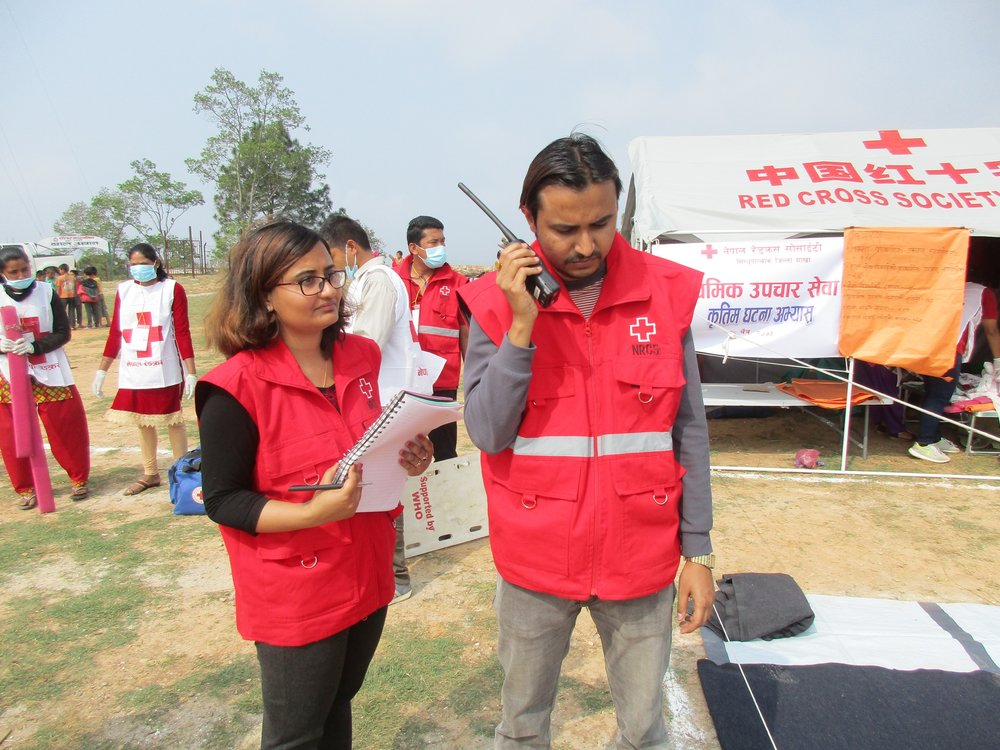 RC staff coordinating the emergency response