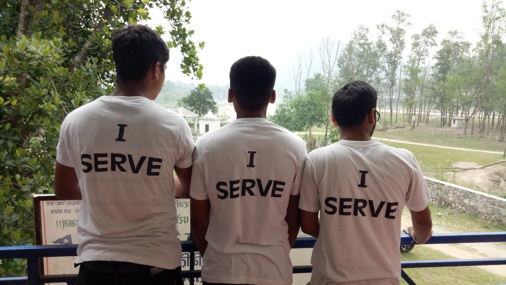 """I serve"" - Nepal Red Cross Youth motto"