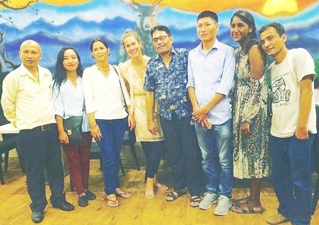 Dhasain dinner with staff members of Nepal Red Cross; our local contact person (LCP) Sir Kiran, Geetha, Duliua, Sir Pusparaj, Sir Dharmaraj, Lenika and Sir Shivrau.
