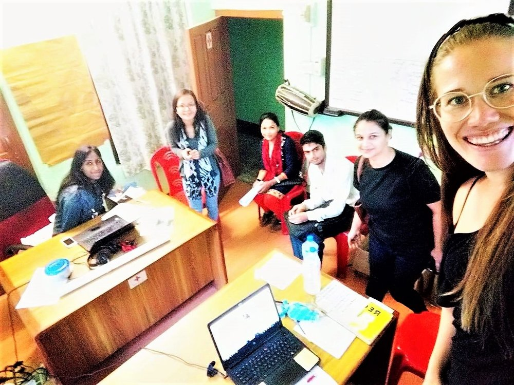 We meet with the previous youth team to discuss establishment of a new youth team in Sunsari District. Photo taken by Camilla Rodø