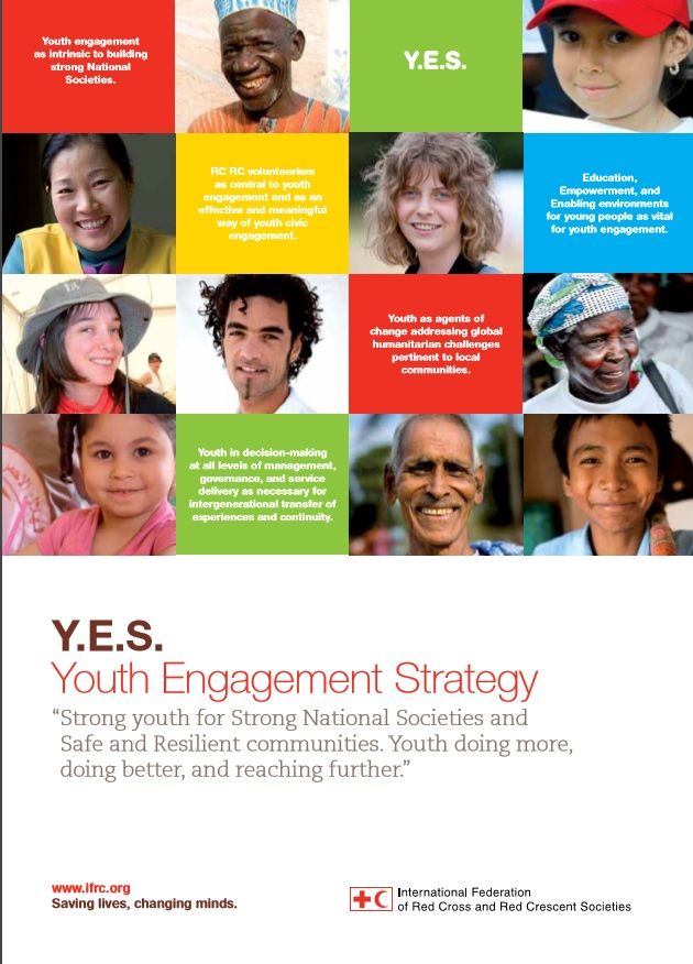 Y.E.S - Youth Empowerment Strategy (IFRC 2017) highlight the importance of building well-organized Red Cross Red Crescent Societies and local communities with sufficient capacities to carry out assessments and to address identified risks and challenges through meaningful actions in a sustainable manner. What does that mean? Firstly, building sufficient capacities can be done by training youths in their abilities, knowledge, and skills. Developing, training and building youths and others' capacities will ensure that a project will be running. Because one should always keep in mind that the ones who started the project may not always be around. And if no-one is trained to take over - it is a high risk that the project may fail. Secondly, with sufficient capacities youths and others will increase and strengthen their ability to address and identify risks and challenges. But, more importantly. The youth will be able to prevent, take action, and help with recovery activities in their community. Additionally they will also be able to train others in their community with sufficient capacities.