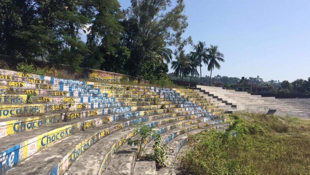 Stadium in Dharan, Nepal. Photo taken by Camilla Rodø