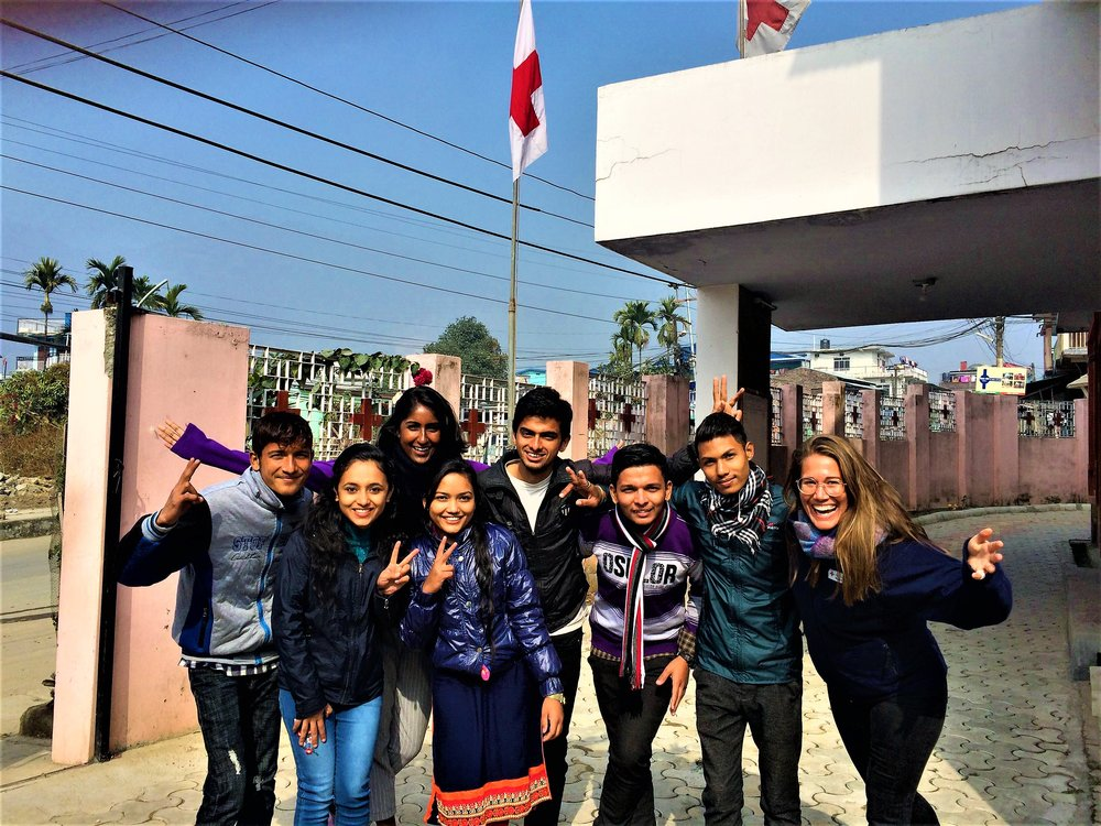 Photo taken by Shivaram Khadka. From left, Subodh, Tripura, Thanuya, Balkumari, Bishal, Kiran, Yogesh and Camilla.