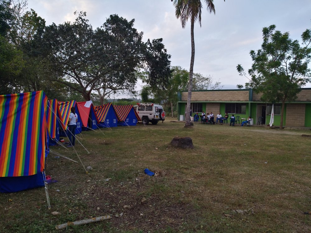 El campamento. /// The camp.  Foto: Sofie S. Bele