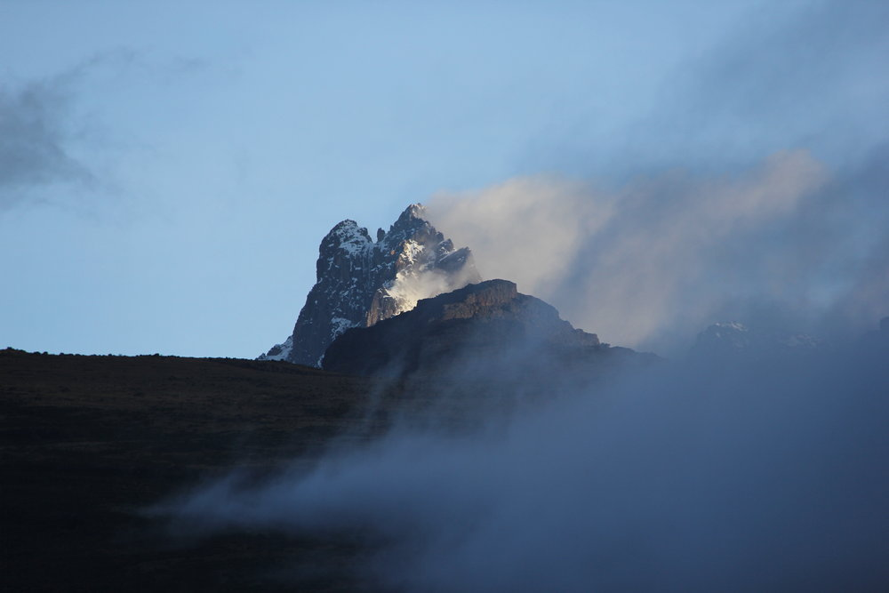 The peak of Mount Kenya