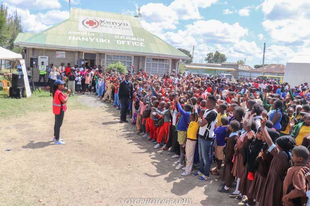 The First Lady of Laikipia County making remarks at the walk in Nanyuki, 22nd September. Photo: OTC Photography