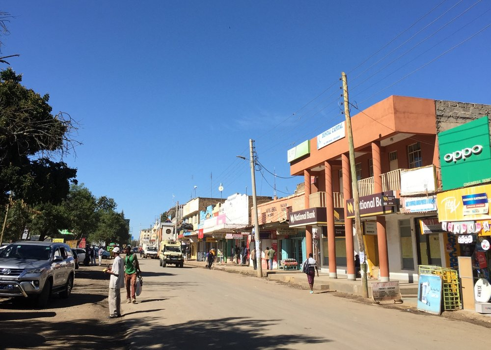 Street of Nanyuki town. Photo: Ingrid Legrand Gjerdset