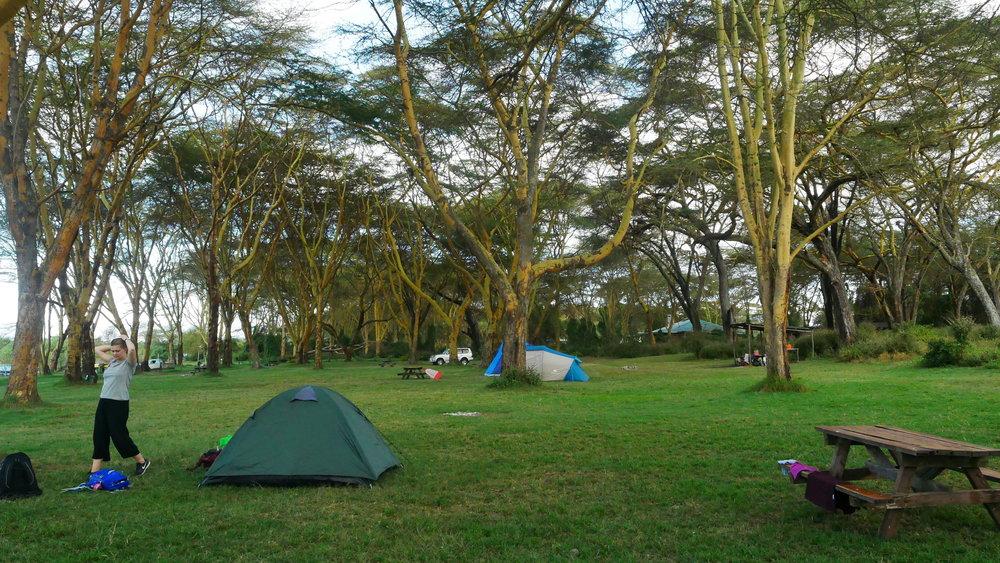 Camping in Naivasha. Photo: Elfi Thrane Bemelmans.