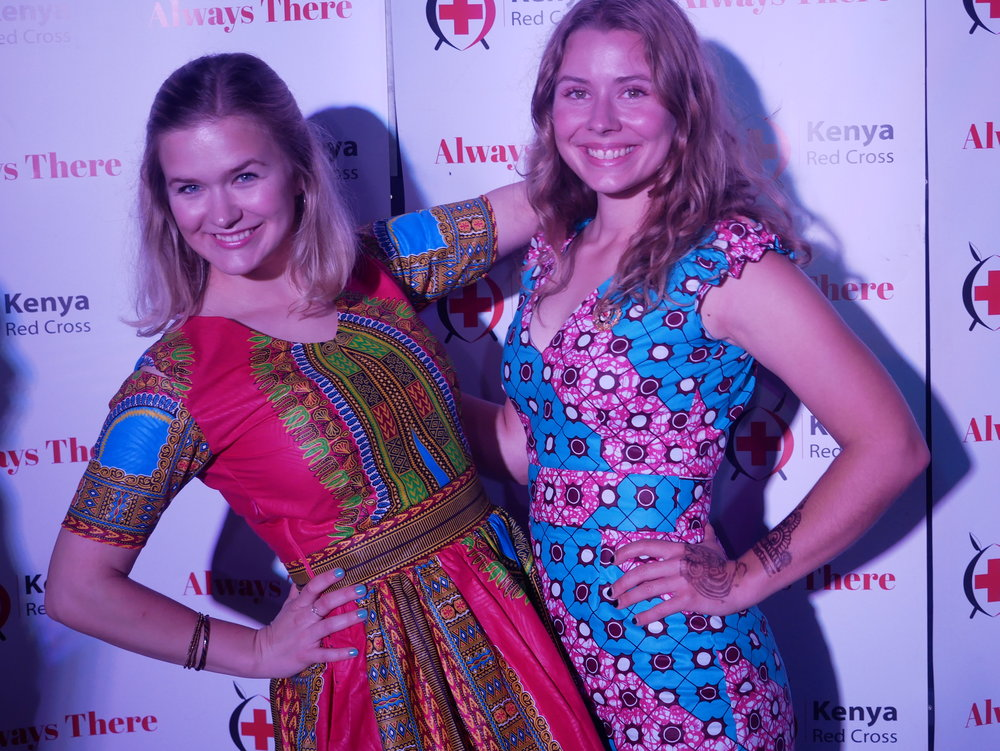 "As the dress code was ""African wear"", we had these kitenge dresses made in Nanyuki. Photo: YDEP."