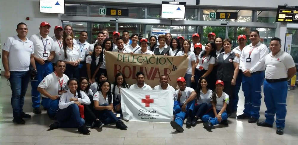 42 volunteers from Bolívar ready for the meeting!