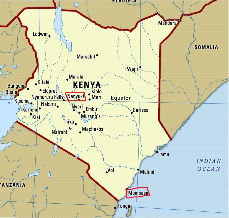 Map of Kenya. Photo: www.mapsland.com.