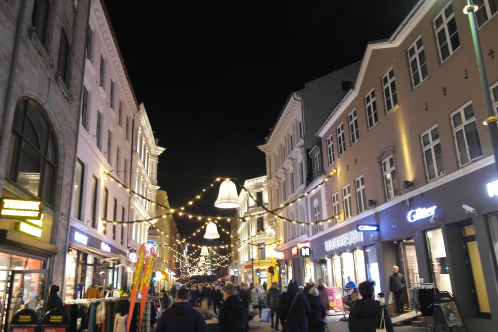 Christmas light decorations in Oslo City