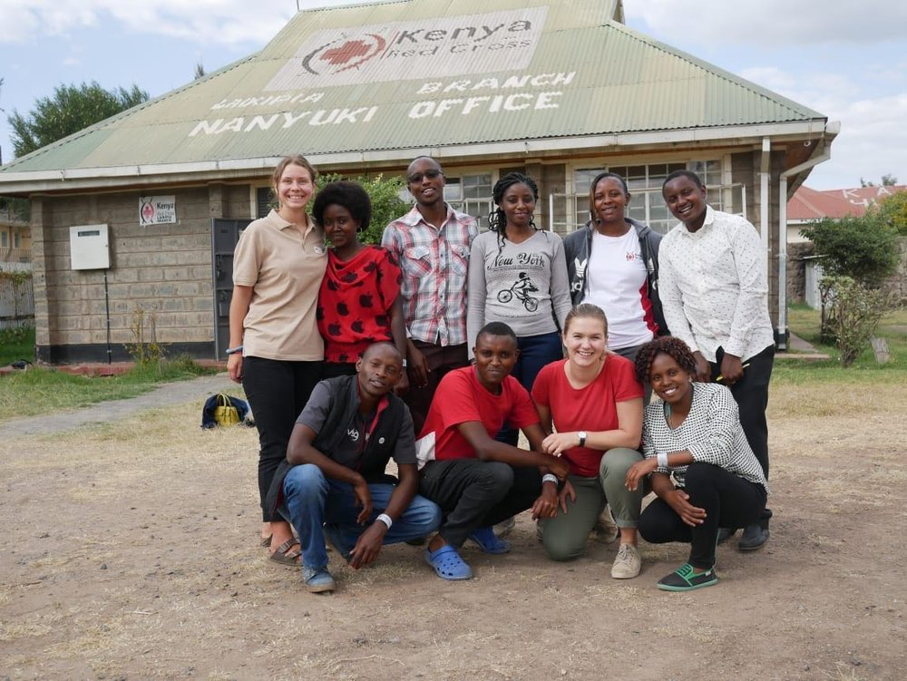 Elfi, Sarah, Sam, Eunice (Treasurer in the Board), Mary (Board member), Alex.  Edwin, Vincent, Ingrid, Teresia.  Photo: Fredd Onyango.