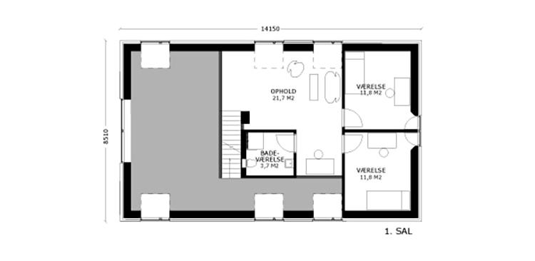 oneroom compact 185 m2 loft