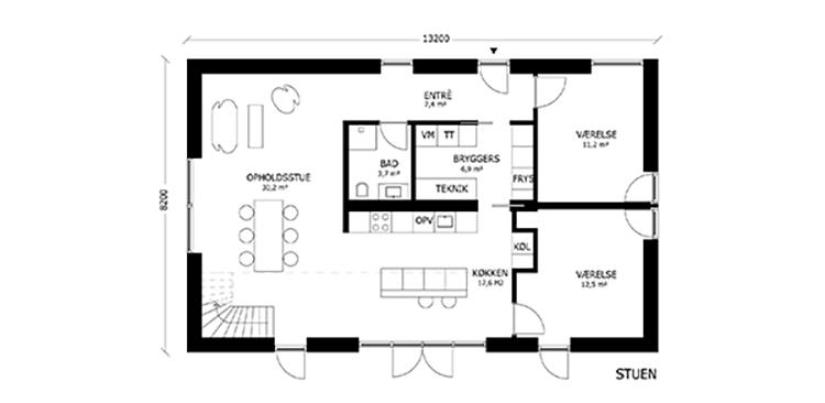 oneroom compact 195 m2 stue v2