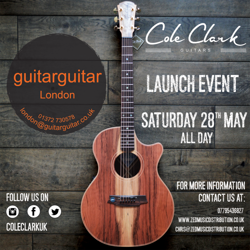 Cole Clark Launch Day at GUITARGUITAR on Saturday the 28th May