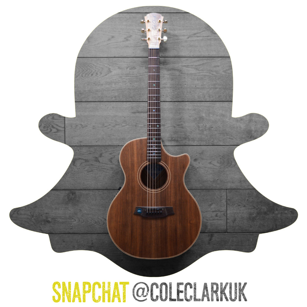 You can now follow Cole Clark Guitars on SNAPCHAT! Just add @ColeClarkUK