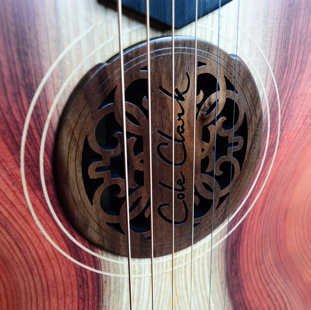 Cole Clark Walnut Sound Hole Cover in FL2EC-RDRWE