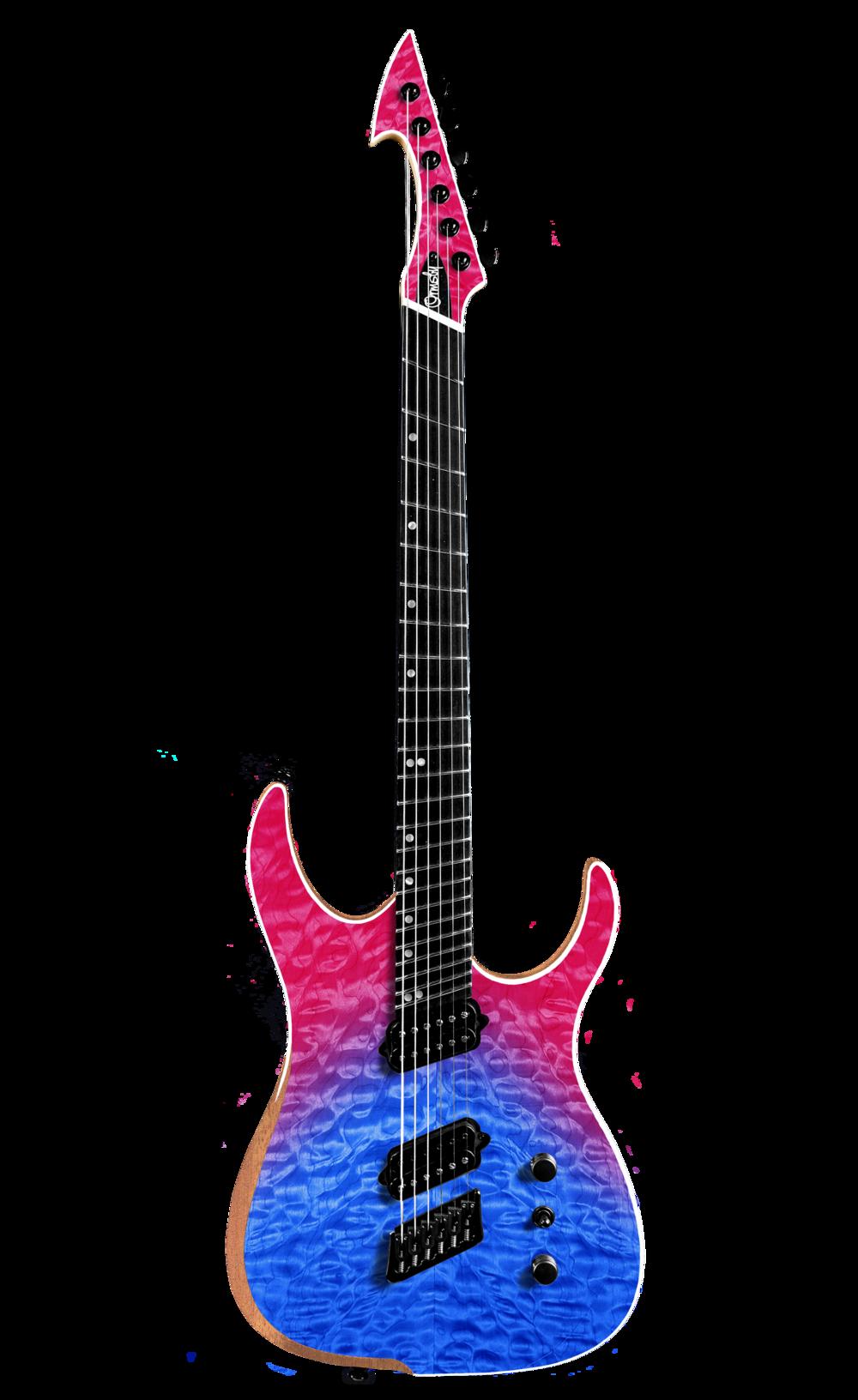 Hype GTR MULTISCALE Quilt Top Dragonburst (6, 7 & 8 String)