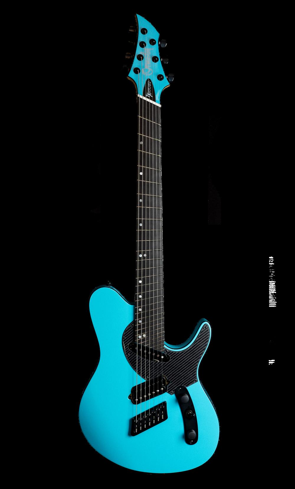 TX GTR Carbon MULTISCALE - Azure Blue (6, 7 & 8 String)