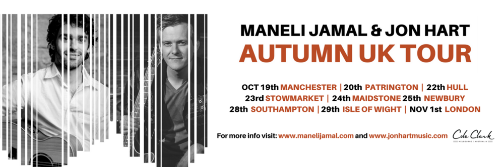 Maneli Jamal and Jon Hart tour dates