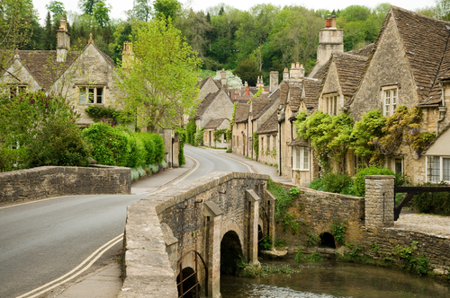Castle Combe , known as one of England's prettiest villages and the filming location of 'Dr Doolittle' nearby