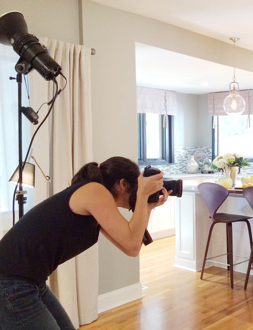 Shooting the very first of 26 houses