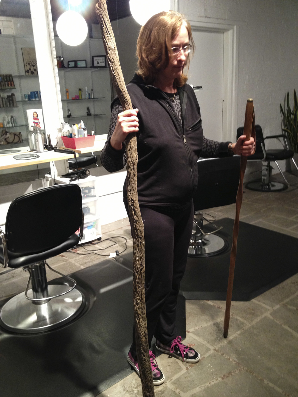 Comparing walking sticks for The Hermit