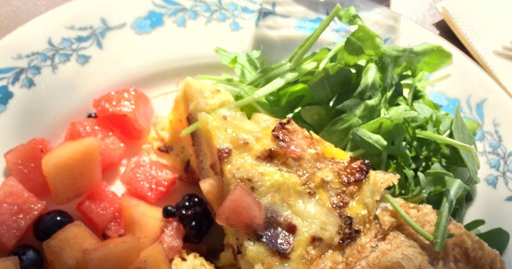 This particular Quiche of the Day featured cauliflower & BACON.