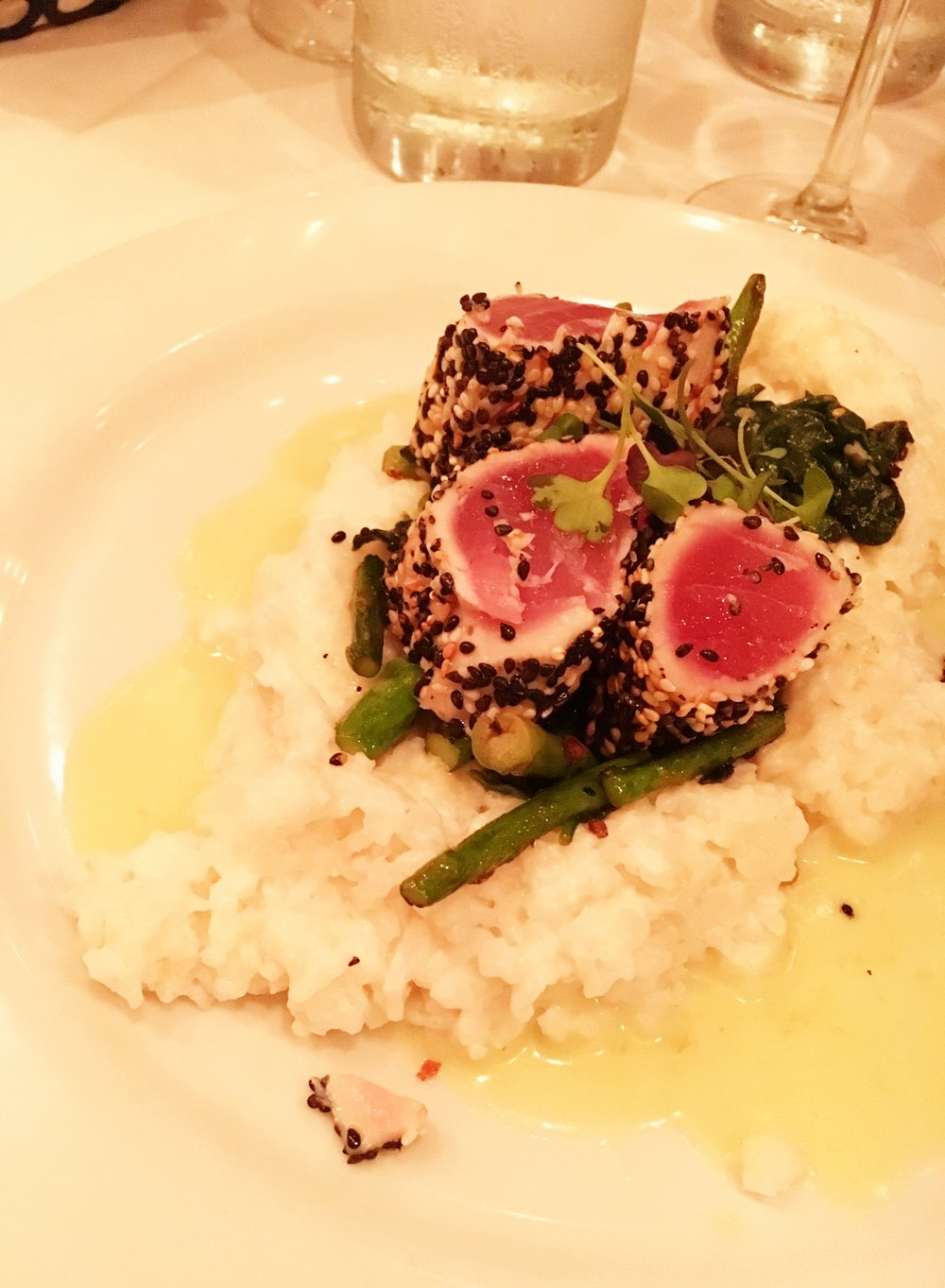 Sesame Tuna & Coconut Rice at Sbicca