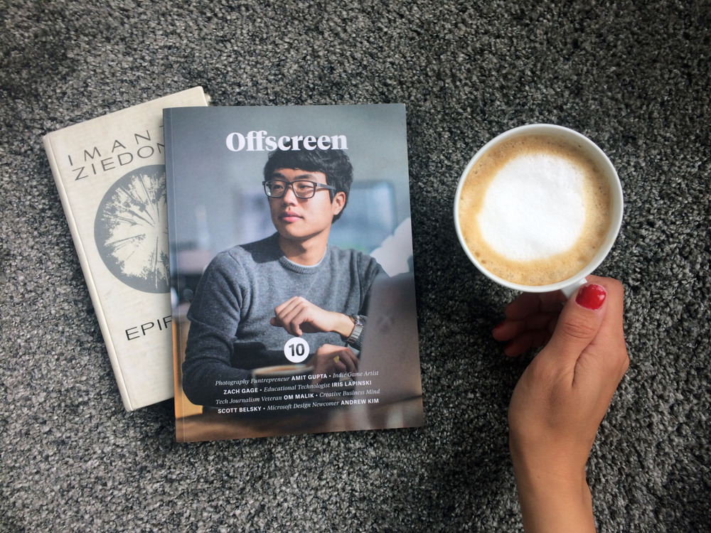 Sunday morning coffee and moment to read. We highly recommend the Offscreen mag - inspiring articles, stories about people with guts :)
